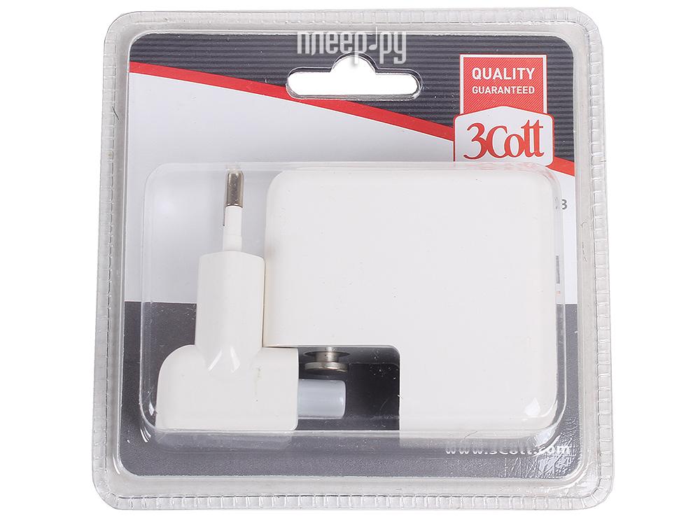 Зарядное устройство 3Cott 3C-WC-184W-4USB White