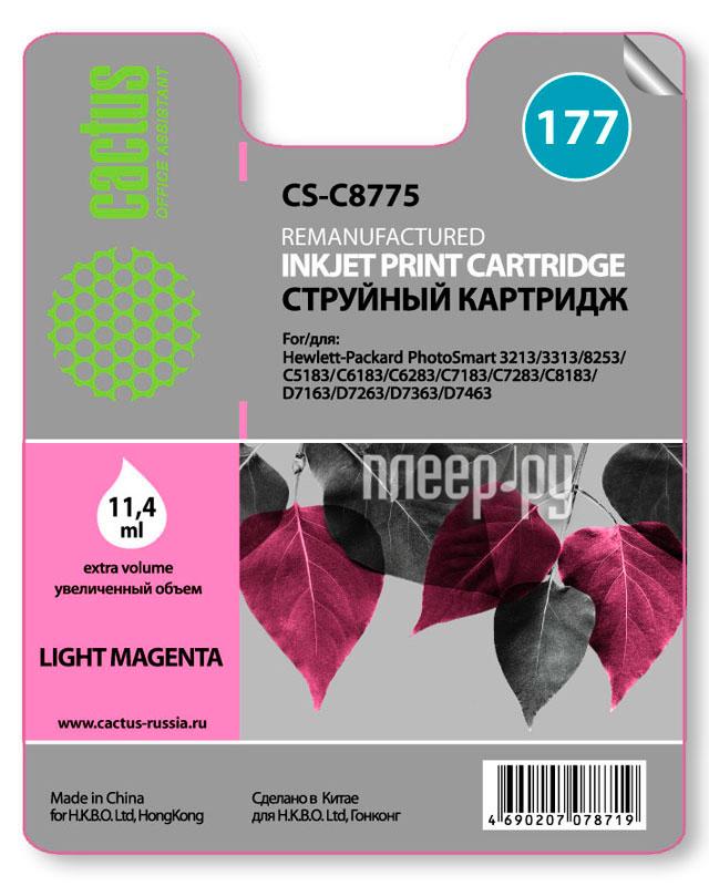 Картридж Cactus №177 Light Magenta для PS 3213 / 3313 / 8253 / C5183 / C6183 / C6283