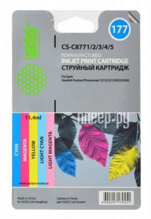 Купить Картридж Cactus (аналог HP CS-C8771/2/3/4/5) №177 Cyan/Magenta/Yellow/Light Cyan Light Magenta