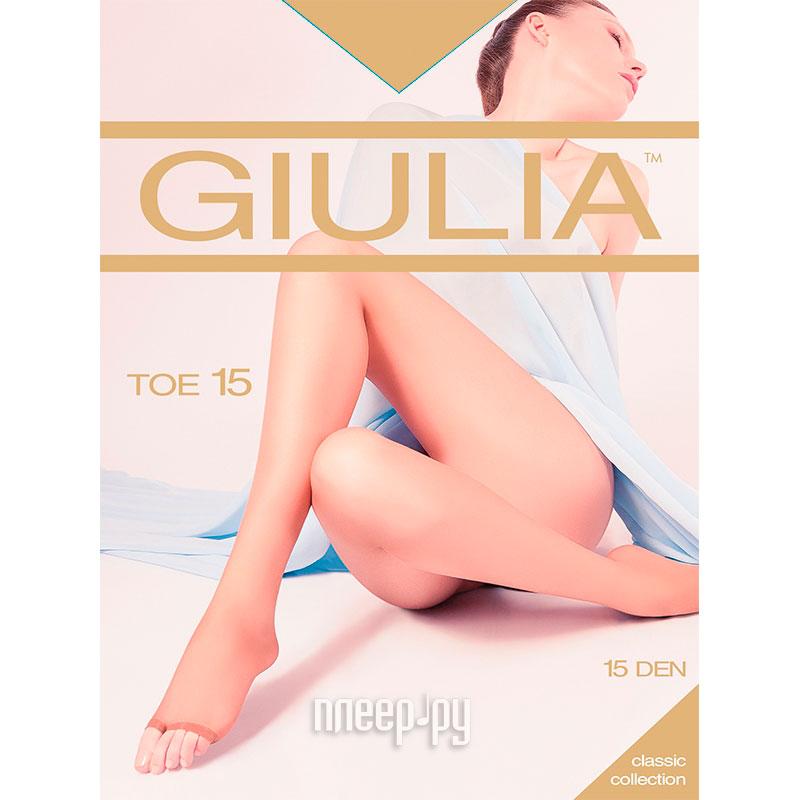 Колготки Giulia TOE размер 4 плотность 15 Den Glace