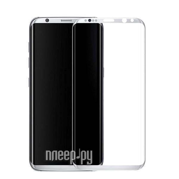 Аксессуар Защитное стекло Samsung Galaxy S8 Plus Krutoff Group 3D Silver 20204