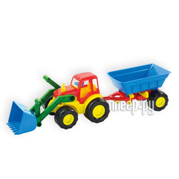 Машина Zebratoys Трактор с ковшом и прицепом Active 15-5212