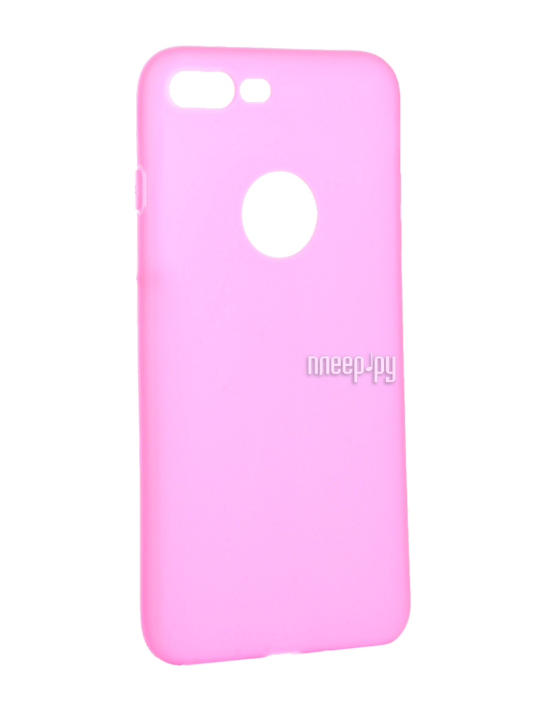 Аксессуар Чехол Krutoff Silicone для iPhone 7 Plus Pink 11832