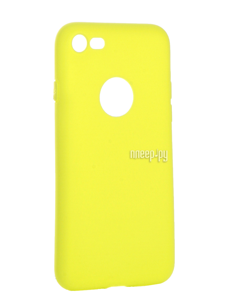 Аксессуар Чехол Krutoff Silicone для iPhone 7 Yellow 11828