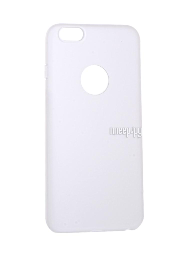 Аксессуар Чехол Krutoff Silicone для iPhone 6 Plus White 11812