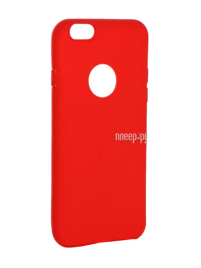Аксессуар Чехол Krutoff Silicone для iPhone 6 / 6S Red 11804 за 462 рублей