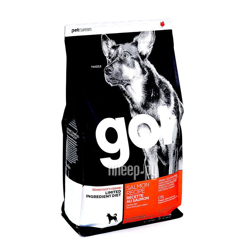 Корм GO! Лосось 2,72kg для Щенков и собак с чувствительным пищеварением 42836