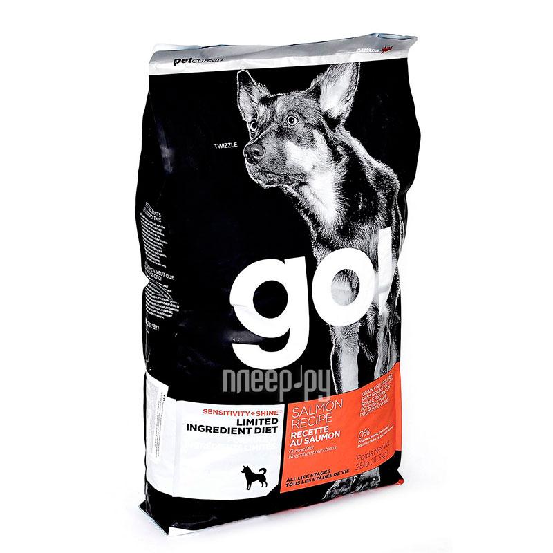 Корм GO! Лосось 11,35kg для Щенков и собак с чувствительным пищеварением 42837