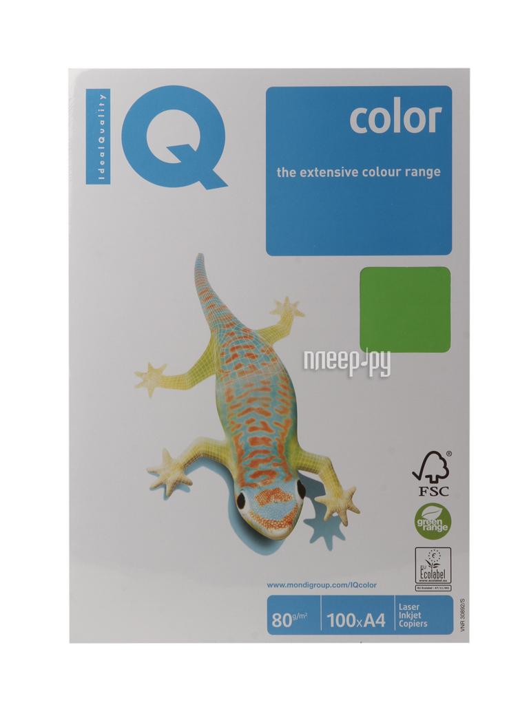 Бумага IQ color А4 80 g / m2 100л Green MA42 110840