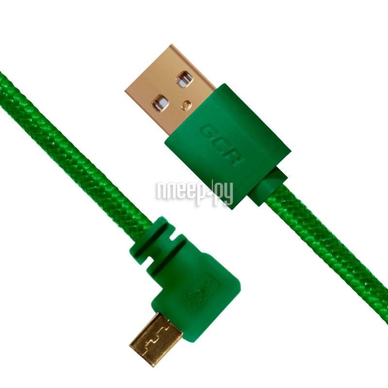 Аксессуар Greenconnect Micro USB 2.0 AM - Micro B 5pin 0.15m Green GCR-UA11AMCB5-BB2S-G-0.15