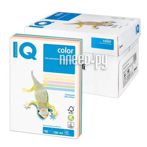 Бумага IQ color А4 160g/m2 100л Colors RB01 110851