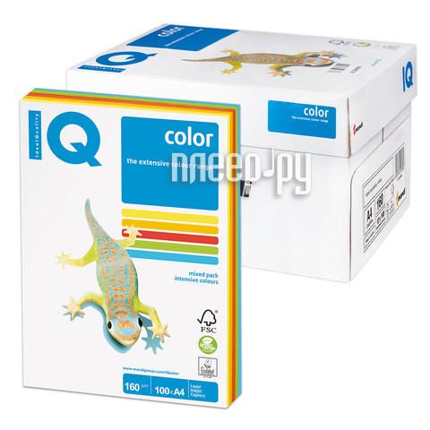 Бумага IQ color А4 160g/m2 100л Colors RB02 110852