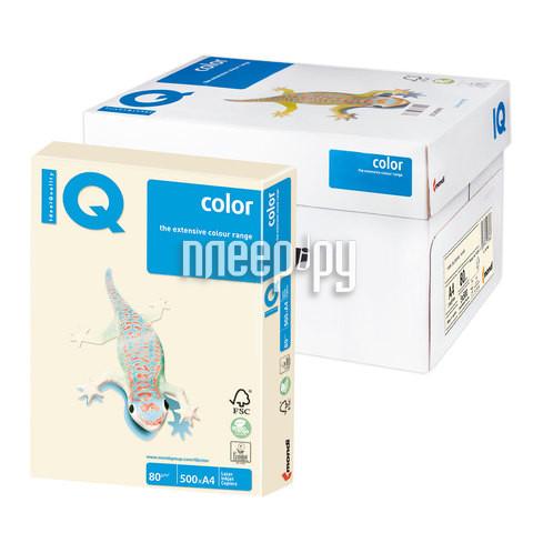 Бумага IQ color А4 80g / m2 500л Cream CR20 110786
