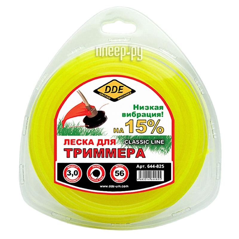 Аксессуар Леска для триммера DDE Classic Line 3.0mm x 56m Yellow 644-825