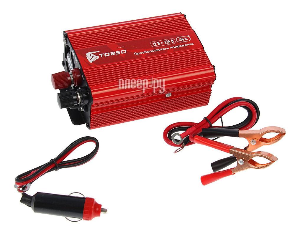 Автоинвертор TORSO TP-12-300 (300Вт) 1410968 с 12В на 220В купить