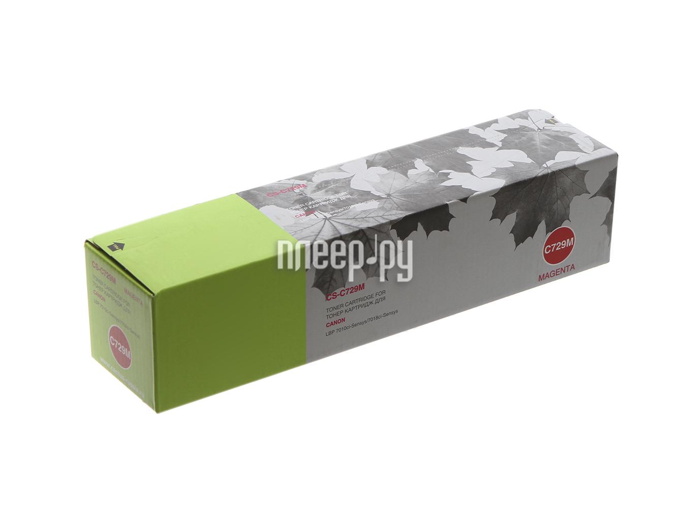 Картридж Cactus Magenta для i-SENSYS LBP-7010C / LBP-7018C 1000стр. CS-C729M за 899 рублей