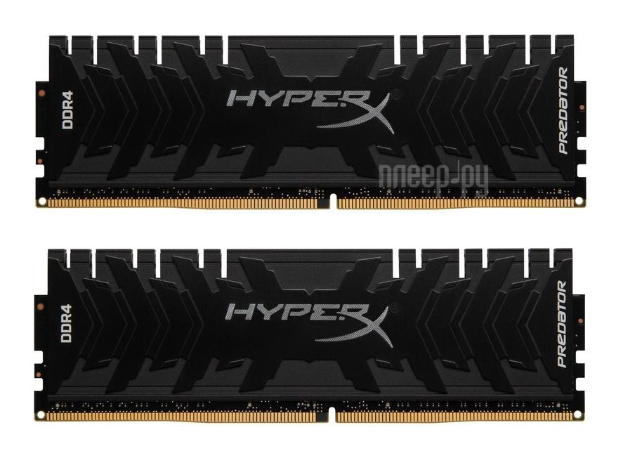 Модуль памяти Kingston HyperX Predator DDR4 DIMM 2400MHz PC4-19200 CL12 - 32Gb KIT (2x16Gb) HX424C12PB3K2 / 32
