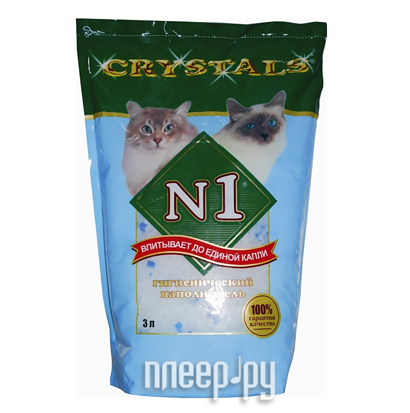 Наполнитель N1 Crystals-Силикагелевый 3L 92207