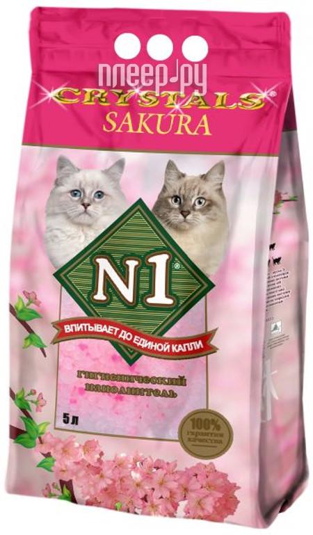 Наполнитель N1 Crystals Sakura силикагель 5L 92217