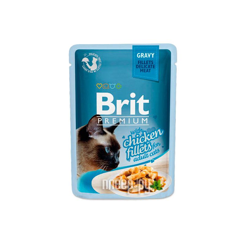 Корм Brit Premium Курица в соусе 85g для кошек 518524