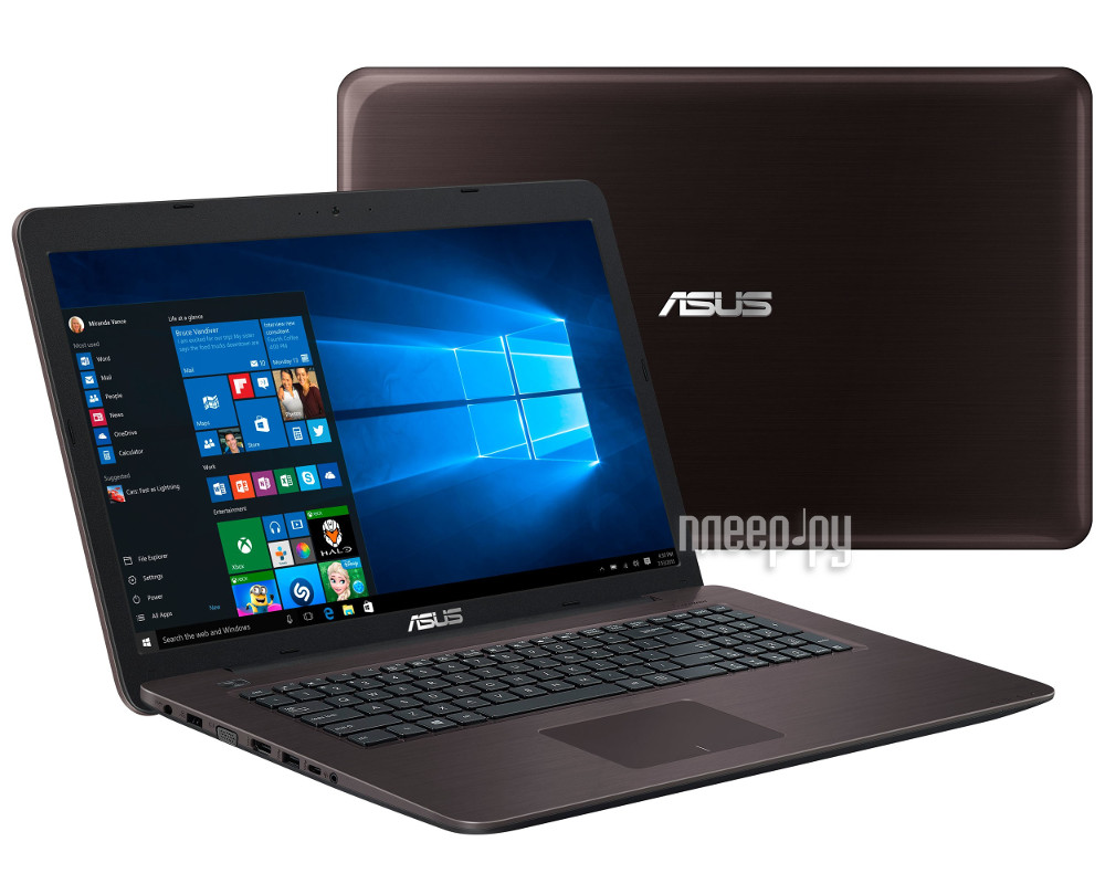 Ноутбук ASUS K756UV-TY316T Special 90NB0C71-M03550 (Intel Core i3-7100 3.9 GHz / 6144Mb / 1000Gb / DVD-RW / nVidia GeForce GT 920MX 2048Mb / Wi-Fi / Cam / 17.3 / 1600x900 / Windows 10 64-bit)