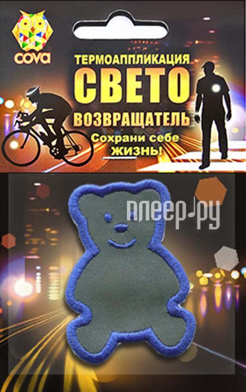 Светоотражатель Cova Термошеврон Медвежонок 55x55mm 333-017