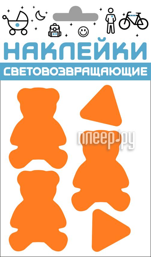 Светоотражатель Cova Наклейки Мишки 100x85mm Orange 333-428