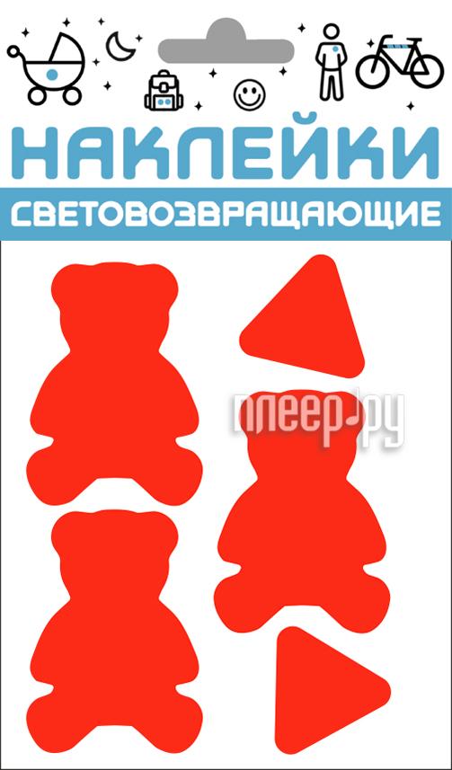 Светоотражатель Cova Наклейки Мишки 100x85mm Red 333-429 купить
