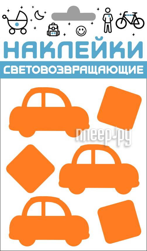 Светоотражатель Cova Наклейки Авто 100x85mm Orange 333-423