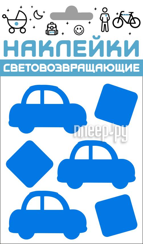 Светоотражатель Cova Наклейки Авто 100x85mm Blue 333-425