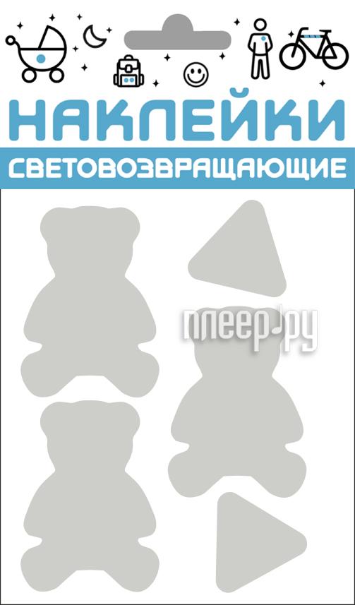 Светоотражатель Cova Наклейки Мишки 100x85mm Metallic 333-426