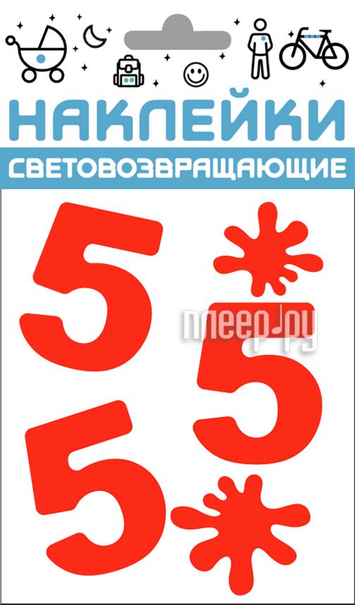 Светоотражатель Cova Наклейки Отличник 100x85mm Red 333-419