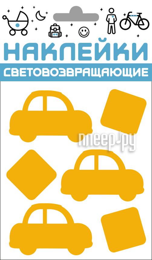 Светоотражатель Cova Наклейки Авто 100x85mm Yellow 333-422