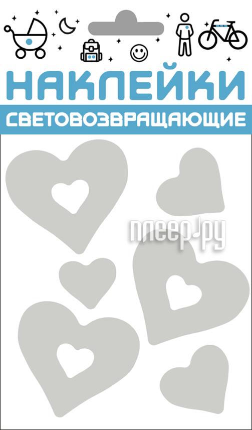 Светоотражатель Cova Наклейки Сердечки 100x85mm Metallic 333-411