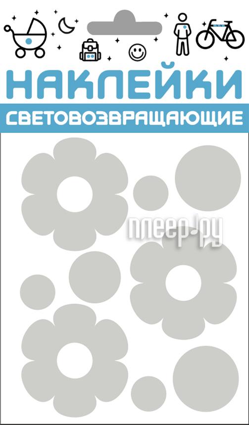 Светоотражатель Cova Наклейки Цветочки 100x85mm Metallic 333-406
