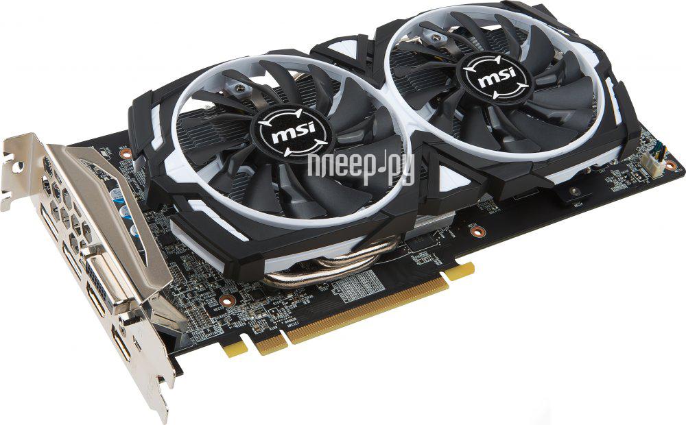 Видеокарта MSI Radeon RX 580 1340Mhz PCI-E 3.0 4096Mb 7000Mhz 256 bit DVI 2xHDMI HDCP RX 580 ARMOR 4G
