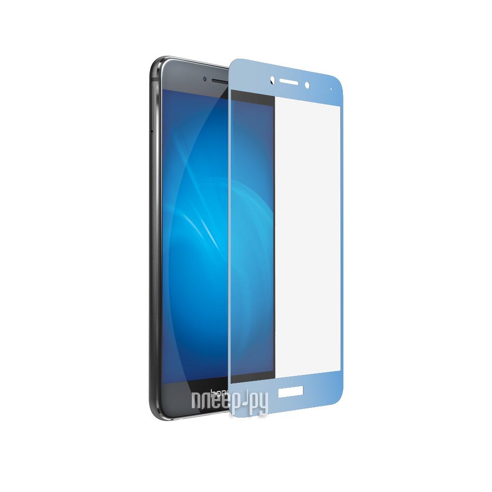 Аксессуар Защитное стекло Huawei Honor 8 Lite / P8 Lite DF Fullscreen hwColor-08 Blue