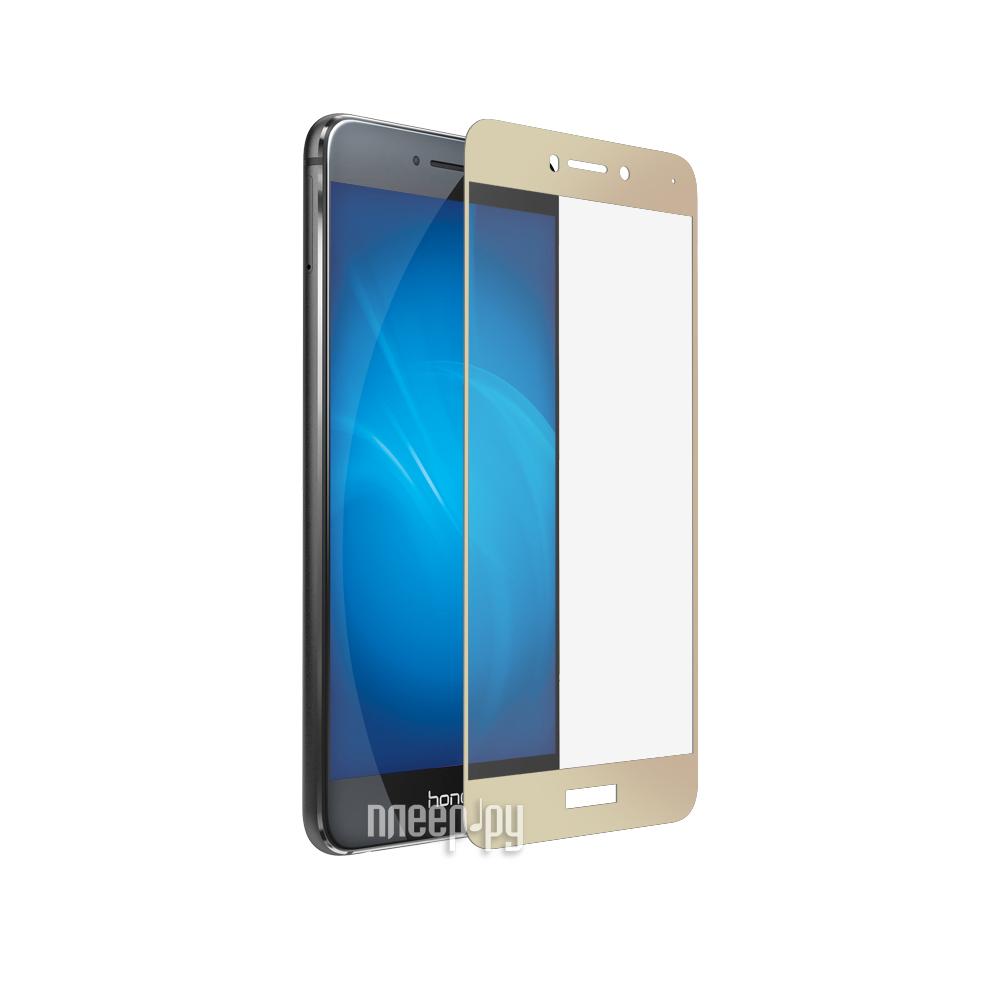 Аксессуар Защитное стекло Huawei Honor 8 Lite / P8 Lite DF Fullscreen hwColor-08 Gold купить