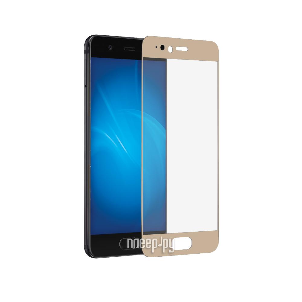 Аксессуар Защитное стекло Huawei P10 Plus DF Fullscreen hwColor-10 Gold