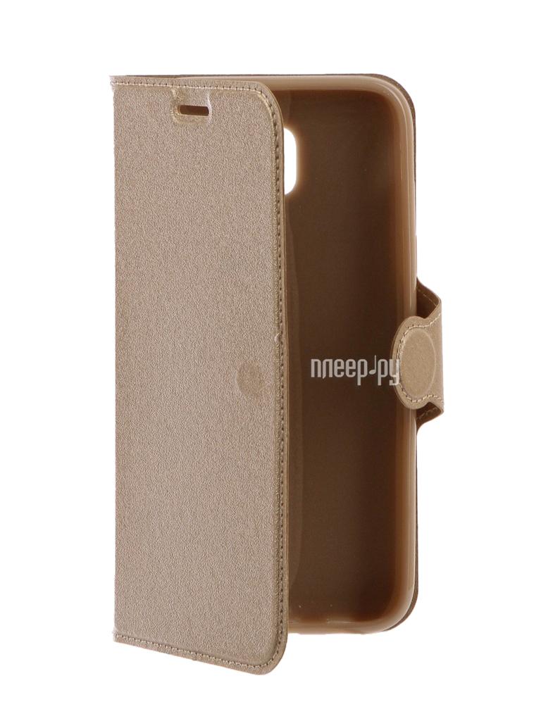 Аксессуар Чехол Samsung Galaxy J5 2017 Red Line Book Type Gold