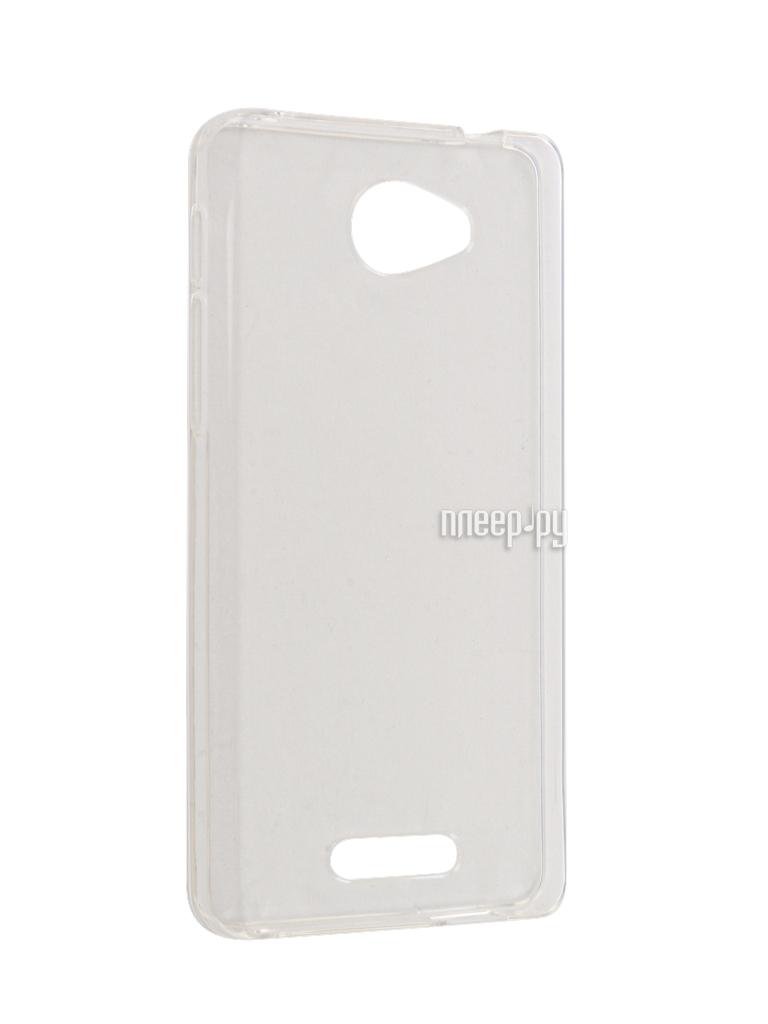 Аксессуар Чехол Alcatel OneTouch POP 4S 5095 Gecko Silicone Transparent-White S-G-ALC5095-WH
