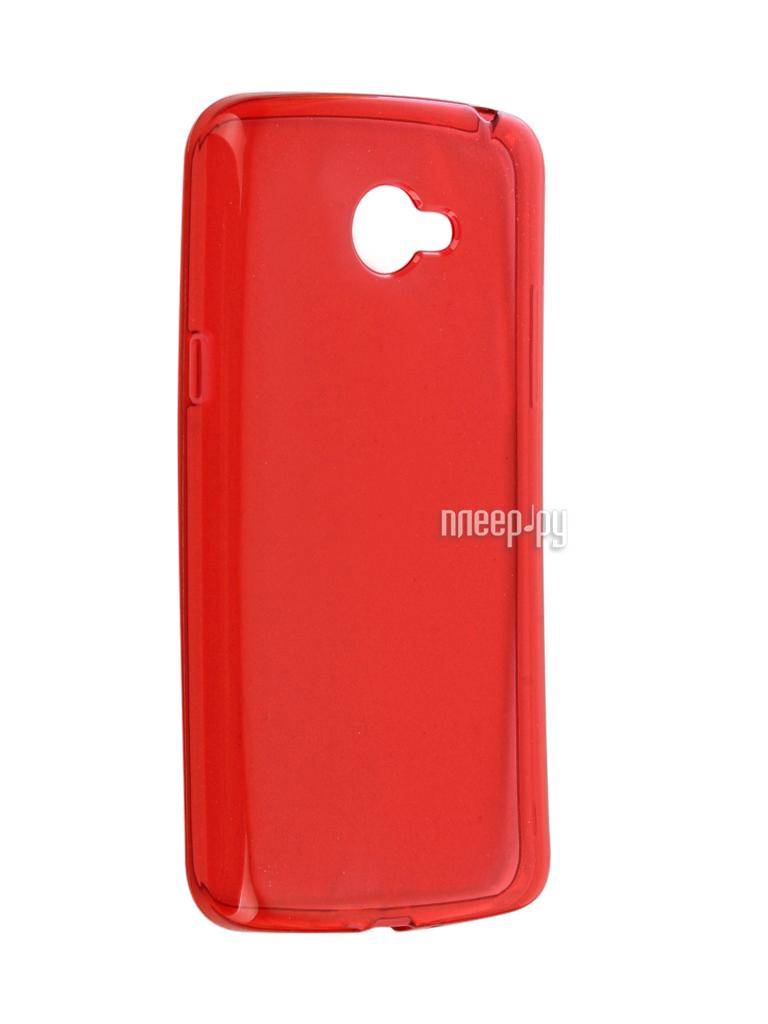 Аксессуар Чехол LG K5 X220ds Gecko Transparent-Glossy Red S-G-LGK5-RED