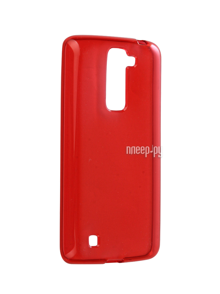 Аксессуар Чехол LG K7 X210ds Gecko Transparent-Glossy Red S-G-LGK7-RED