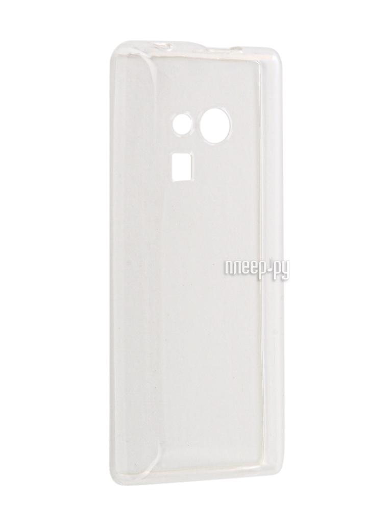 Аксессуар Чехол Nokia 216 Gecko Transparent-Glossy White S-G-NOK216-WH