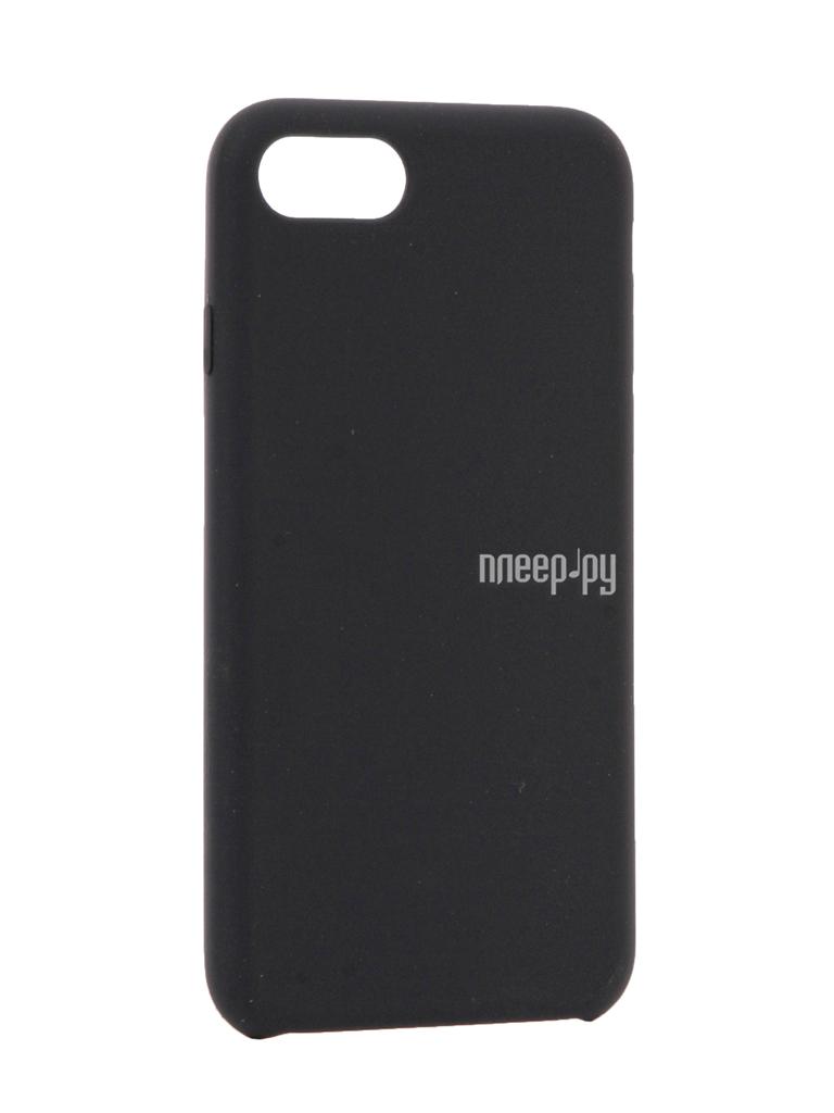 Аксессуар Чехол BROSCO Soft Rubber для APPLE iPhone 7 Dark Blue IP7-SOFTRUBBER-DARKBLUE