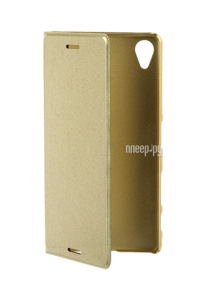 Аксессуар Чехол Sony Xperia X Performance BROSCO PU Gold Lime XP-BOOK-GOLDLIME