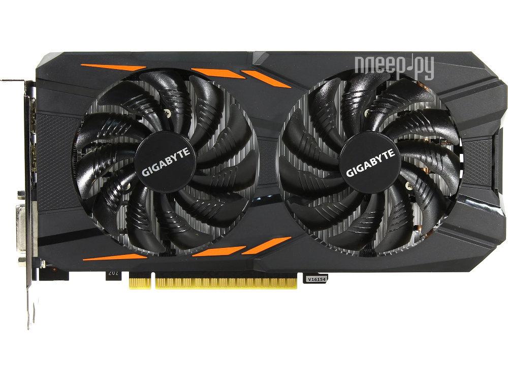 Видеокарта GigaByte GeForce GTX 1050 1379Mhz PCI-E 3.0 2048Mb 7008Mhz 128 bit DVI 3xHDMI HDCP Windforce 2G GV-N1050WF2-2GD