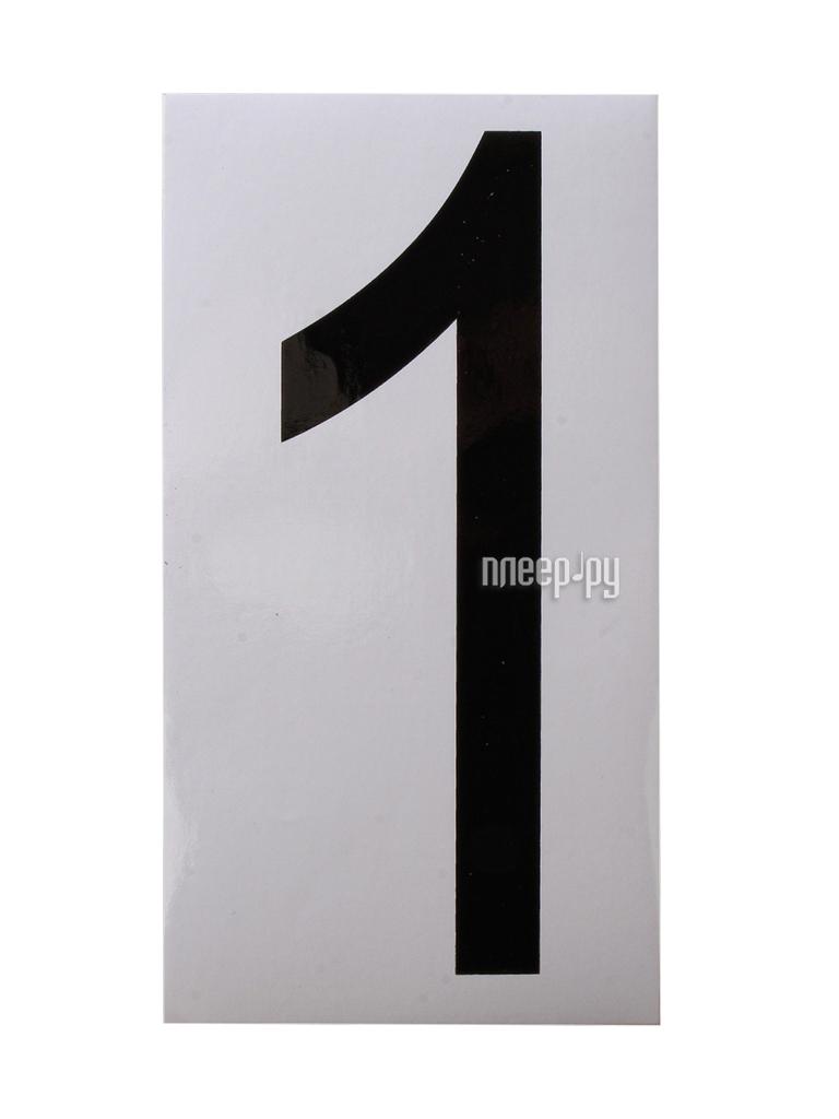 Наклейка на авто Цифра 1 наружная 17.5x33cm 00973