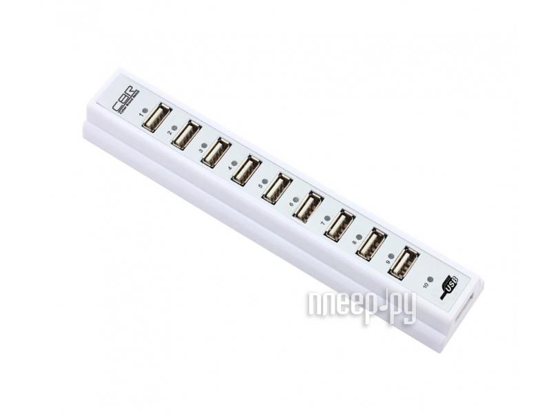 Хаб USB CBR CH310 USB 10-ports White