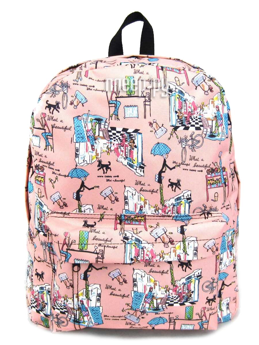 Рюкзак Creative LLC Модница с карманом Pink GL-BC877